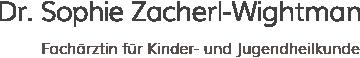 Kinderärztin 1190 Wien - Dr. Sophie Zacherl-Wightman
